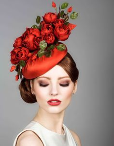 Silk taffeta beret pillbox with handmade roses Rachel Trevor Morgan Millinery Rachel Trevor Morgan, Red Hat Society, Crazy Hats, Kentucky Derby Hats, Fascinator Hats, Hair Fascinators, Wedding Fascinators, Millinery Hats, Pillbox Hat