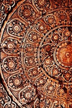 Picture of Wood Thai pattern Handmade wood carvings. Chiangmai Thailand stock photo, images and stock photography. Thai Pattern, Color Cobre, Art Carved, Carved Wood, Thai Art, Thai Thai, Thing 1, Wooden Art, Art And Architecture