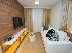 70 ideias de salas pequenas decoradas e lindas para se inspirar Decor, House Design, Room Design, Interior, Tiny Living Rooms, Hall Interior, Small Living Room, Interior Design, Living Room Designs