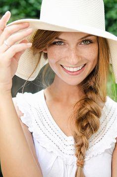 Summer hat chic.