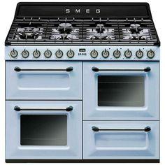 Image result for smeg pastel blue range cooker