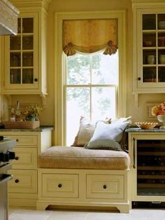 Add some shelving right next to this seat for all the cookbooks, then give me a cup of coffee and I'll be in heaven.