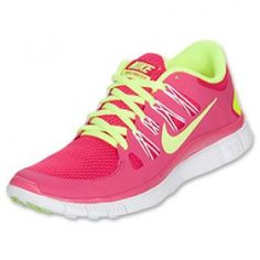 best service e881c f7aa7 Women s Nike Free 5.0+ Running Shoes Pink Force Volt White