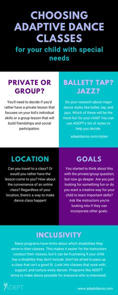 What to consider when picking a dance class for your child with special needs Dance Teacher, Dance Class, Dance Studio, Special Needs Resources, Teach Dance, Dance Fashion, Focus On Yourself, Jazz, Messages