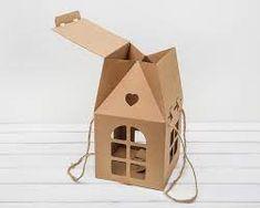 Коробка декоративная Домик с ручками и окошками, 20х20х32 см цена в Москве ? купить в интернет магазине ¦ Upakui-Ka