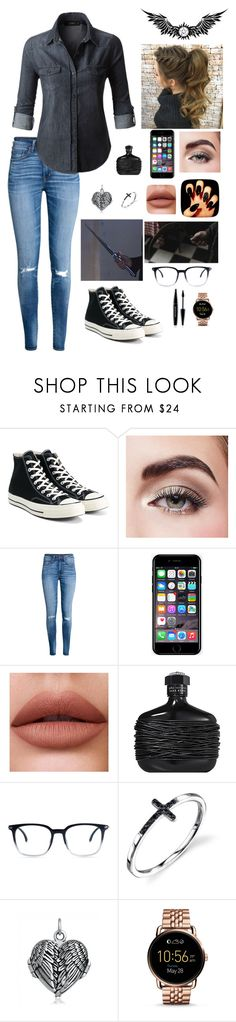 """Only 2 Are Sane; ""And Then There Were None"" ~Carlisa"" by carlisafights ❤ liked on Polyvore featuring Converse, Avon, Off-White, LE3NO, John Varvatos, FOSSIL and MAKE UP FOR EVER"