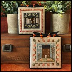 Fall Cross Stitch, Cross Stitch Heart, Cross Stitch Kits, Cross Stitch Patterns, Pumpkin Ornament, Little House Needleworks, Mill Hill Beads, Blackbird Designs, Drawn Thread
