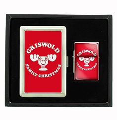Griswold Christmas Vacation Cigarette Case and Flip Top Oil Lighter Set * This is an Amazon Affiliate link. To view further for this item, visit the image link.