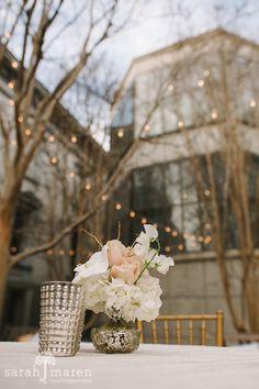 Crocker Art Museum Wedding Photos - Courtyard Cocktail Seating - Sarah Maren Photographers