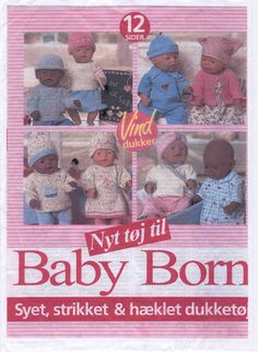 Photo: Source by mettegulam Easy Yarn Crafts, Baby Crafts, Knitting Dolls Clothes, Sewing Dolls, Doll Clothes, Knitted Doll Patterns, Knitted Dolls, Baby Born Clothes, Best Baby Shoes
