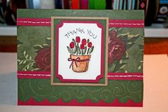 Spring Thank You Card by corinnesmith - Cards and Paper Crafts at Splitcoaststampers