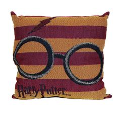 This Harry Potter woven tapestry pillow features Harry's glasses and his lightning bolt scar and will be a great addition…