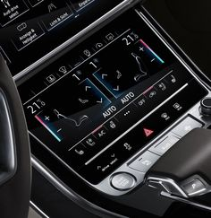 2018 Audi A8 L UI-UX Design New Climate controle screen