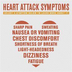 Infographic: #Heart attack symptoms   #Yakima Valley Memorial Hospital
