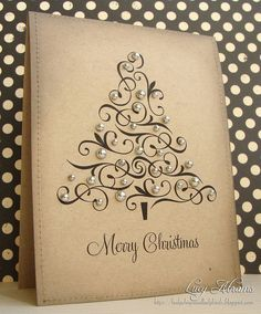I think this Christmas Card is beautiful. Christmas Card Ideas by Diy Christmas Cards, Noel Christmas, Xmas Cards, Handmade Christmas, Holiday Crafts, Christmas Decorations, Greeting Cards, Christmas Ornaments, Cute Cards