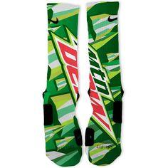 Mountain Dew Custom Nike Elite Socks – Fresh Elites