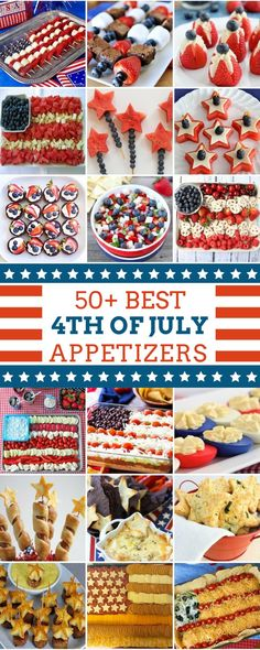 50 Best of July Appetizers — Kick off your of July party with these patriotic and delicious appetizers. There are creative dips, salads, finger foods and fruit trays that are sure to impress your guests! : 50 Best of July Appetizers : prudentpe 4th Of July Desserts, Fourth Of July Food, 4th Of July Celebration, 4th Of July Party, Fourth Of July Recipes, Patriotic Desserts, 4th Of July Food Sides, 4th Of July Ideas, 4th Of July Camping