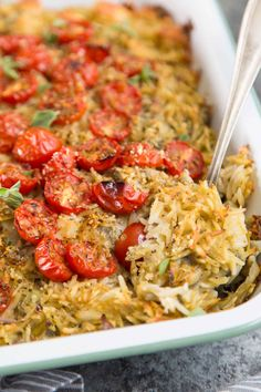 This baked orzo with artichokes recipe comes from The Weeknight Mediterranean Kitchen cookbook. It's a hearty satisfying meal Baked Artichoke, Artichoke Chicken, Artichoke Recipes, Veggie Recipes, Salad Recipes, Dinner Recipes, Healthy Recipes, Veggie Meals, Healthy Dinners