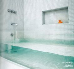 Bañera transparente.