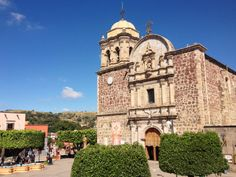 Church and main square. Tequila, Jalisco, Mexico