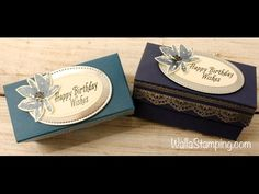 Delicate Details Votive Box with Night of Navy and Silver Embossing - YouTube