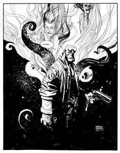 Andrew Robinson | HELLBOY | Commission Comic Art