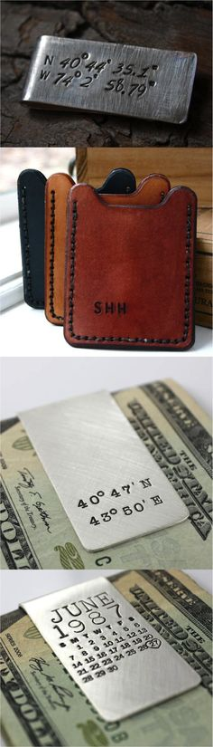 Personalized money clips are a great gift for the man who has everything. | Made by people who care on Hatch.co