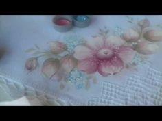 Pintura em tecido. Aprenda pintar flor do campo, botão e folhas suaves. - YouTube