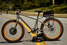 Fat electric bike blocking traffic
