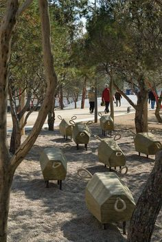 Madrid Rio wins American Architecture Prize in the Public Landscape Architecture category - Urban Furniture, Street Furniture, Playground Design, Natural Playground, Landscape Architecture Design, Forest Park, Parcs, Urban Landscape, Landscape Steps