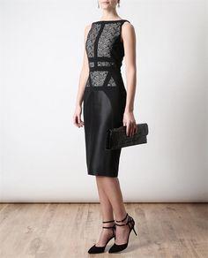 Browns roupas da moda e designer e vestuário | Antonio Berardi | vestido de renda e Crepe-Jersey