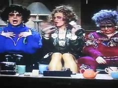 Coffee Talk-with Madonna (center) as Linda's sister, and Roseanne as her mother. Can you say side-splittinly funny? Talk amongst yaselves!