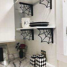 gothic home decor Goth kitchen - Dark Home Decor, Goth Home Decor, Horror Decor, Spooky House, Gothic Furniture, Painted Furniture, Spooky Decor, Gothic House, Victorian Gothic Decor