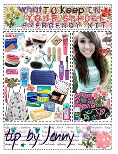 This could be just an emergency kit for on the go, not just school. School Emergency Kit, School Survival Kits, School Kit, The New School, New School Year, Survival Prepping, Middle School, Art School, Emergency Kits