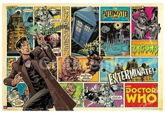 Doctor Who Comic Poster