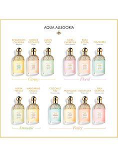 Buy Guerlain Aqua Allegoria Pera Granita Eau de Toilette Spray, from our Women's Fragrance range at John Lewis & Partners. Guerlain Perfume, Perfume Scents, Perfume Fragrance, Fragrance Mist, Clean Perfume, Granita, Aqua, Perfume Collection, Smell Good