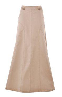 Golden Grace Long Denim Skirt - love this skirt! Modest Dresses, Modest Outfits, Skirt Outfits, Modest Fashion, Skirt Fashion, Cool Outfits, Casual Outfits, Fashion Outfits, Denim Outfit
