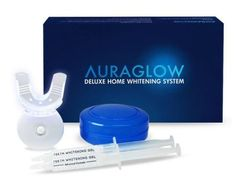 AuraGlow Deluxe Home Teeth Whitening System Review #auraglow #review