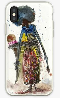 "Looking for a beautiful IPhone cover or case? Check out this one featuring the artwork of Sudan's Samir Osman. It is titled ""Magical Woman"".  #blackart #africanart #sudan #blackgirlmagic #blackgirlsrock..."