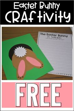 The Easter Bunny is stuck! Grab this free rabbit craft with writing activity. Easter Activities, Spring Activities, Writing Activities, Holiday Activities, Writing Ideas, Writing Prompts, Writing Traits, Writing Workshop, Holiday Crafts