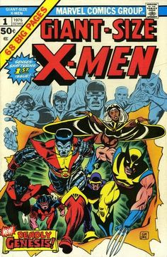 Giant-Size X-Men (Marvel, CGC NM White pages. First appearance of the new X-Men (Nightcrawler, - Available at Sunday Internet Comics Auction. Marvel Comics, Ms Marvel, Marvel Comic Books, Fun Comics, Comic Books Art, Captain Marvel, Captain America, Hulk Comic, Book Art