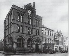 The old Post Office building, sadly demolished in 1964.  Now Waitrose. Shrewsbury, Shropshire