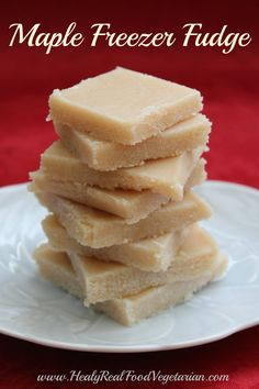 Maple Freezer Fudge (dairy-free) @ Healy Real Food Vegetarian