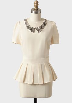 a1993c9bbb1d0 Adrianna Embellished Peplum Top Vintage Šaty, Šatník Do Práce, Makeup,  Sukňa, Topánky