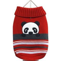 FouFou Dog Animal Sweater, Panda, Large  ♥  Available at BuyDogSweaters.com