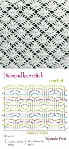 Diamond lace stitch