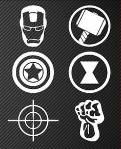 Logo Avengers, Avengers Symbols, Avengers Shirt, Marvel Avengers, Black Widow And Hulk, Marvel Tattoos, Silhouette Cameo Projects, Vinyl Crafts, Nerd