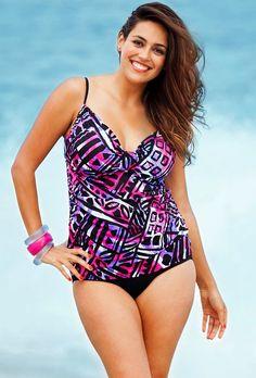 Plus Size Purple Swimsuit Mohegan Shore Club Tarkini