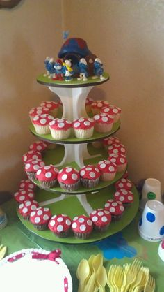 Smurfs Birthday Cake Top Smurfs Cakes birthday party girl boys schtroumphs