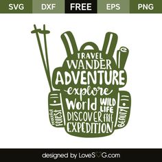 *** FREE SVG CUT FILE for Cricut, Silhouette and more *** Traveller back bag